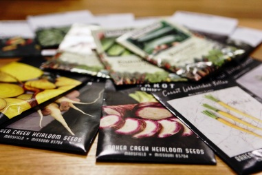 Organic heirloom seeds for gardening