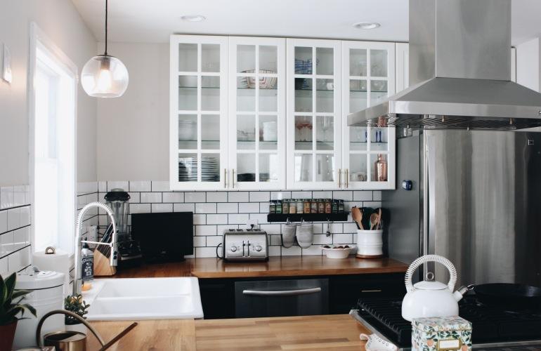 Pendant Light over Sink from Target | DIY Budget Friendly Modern Farmhouse Kitchen Renovation