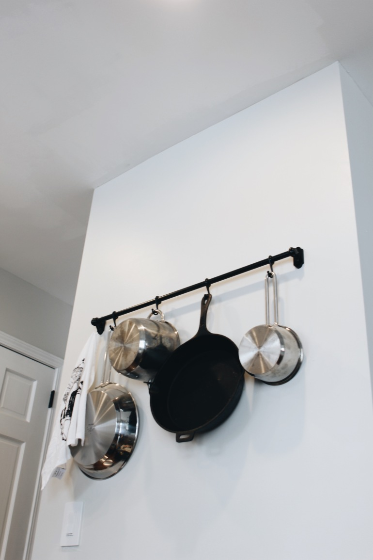 DIY Pot and Pan Rack from IKEA