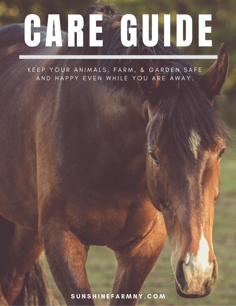 Farm Sitter Care Guide
