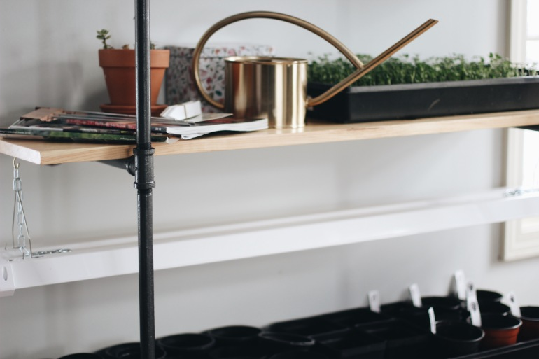 DIY Black Pipe Shelf