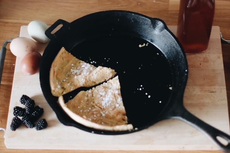 5 Ingredient Gluten Free, Dairy Free, Dutch Baby Pancakes