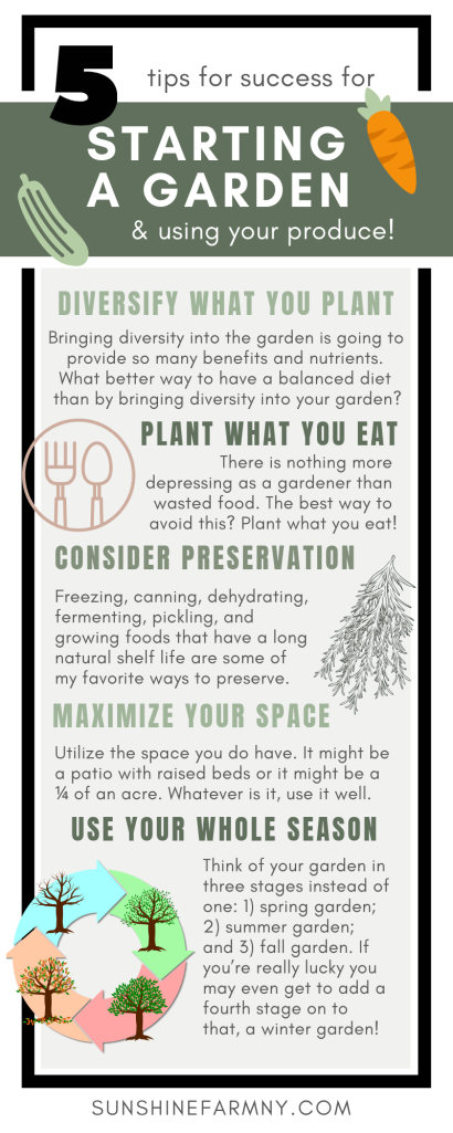 5 Tips for Starting a Garden Infographic