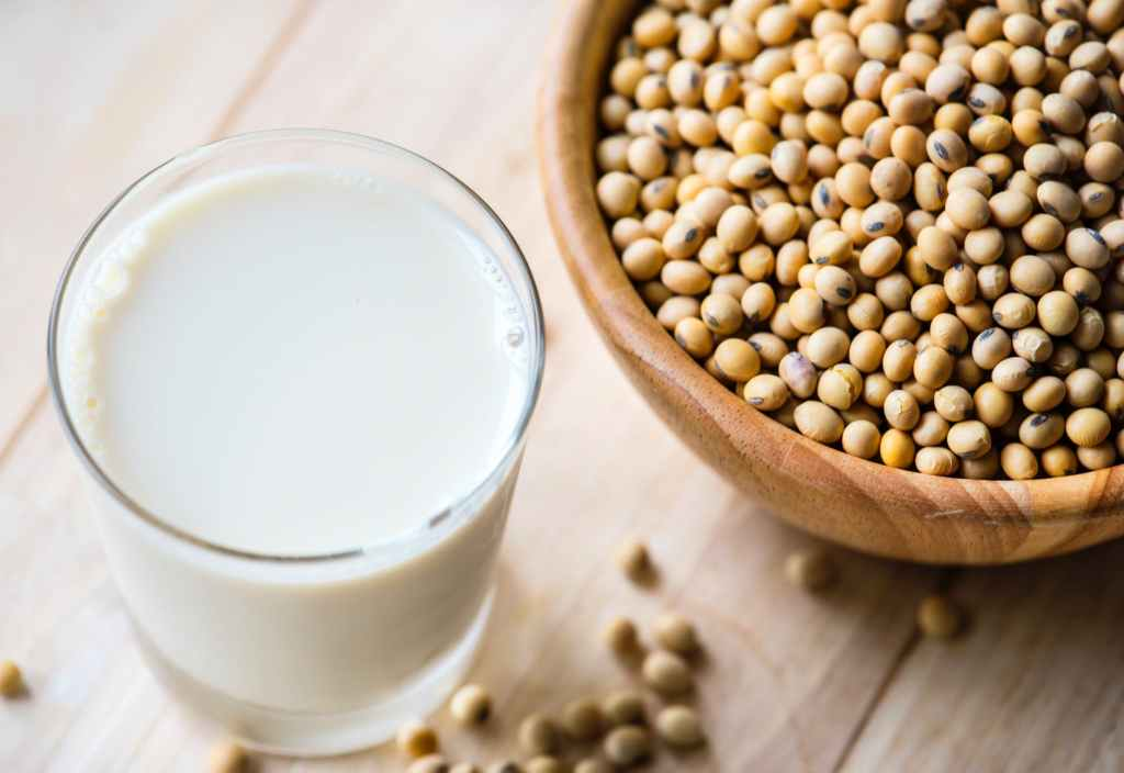 Soy beans and soy milk. plant based protein you can grow in the garden