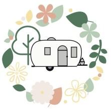 vintage airstream logo Sunshine Farm