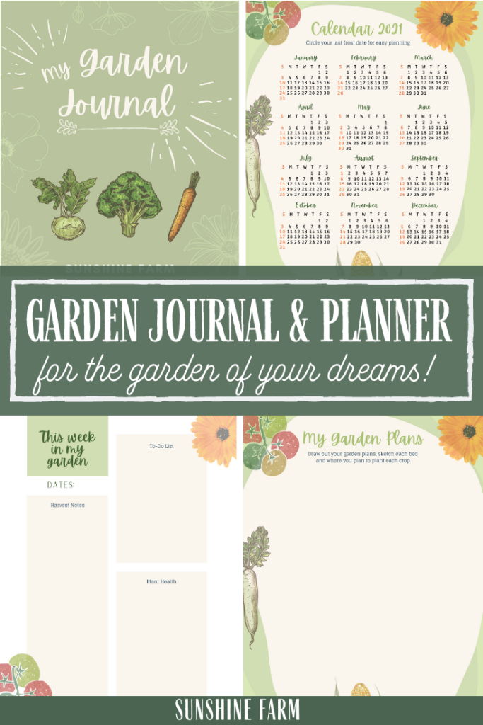 Garden journal and planner for the garden of your dreams